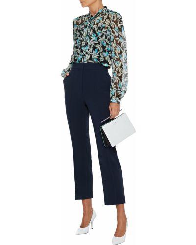 Bluzka z jedwabiu - turkusowa Diane Von Furstenberg