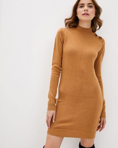 Коричневое вязаное платье Brave Soul