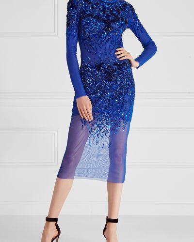 Вечернее платье с бисером со вставками Elisabetta Franchi