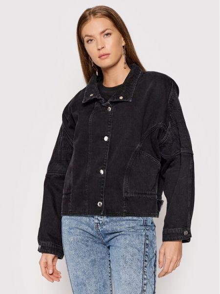 Czarna kurtka jeansowa Iro