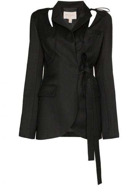 Черный пиджак с запахом Matériel