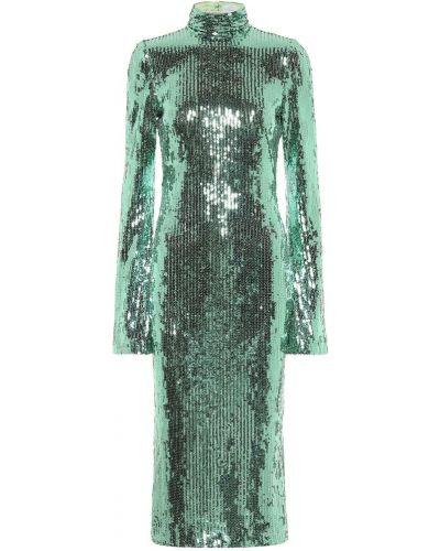 Зеленое платье миди Galvan