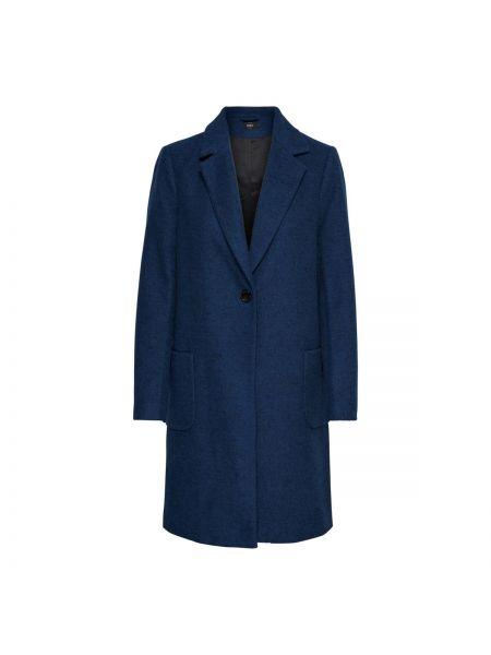 Длинное пальто с накладными карманами шерстяное Only
