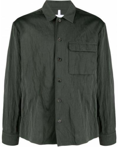 Zielona koszula z długimi rękawami Soulland