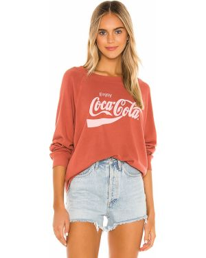 Sweter z nadrukiem frotte Wildfox Couture