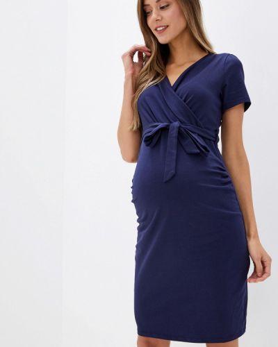 Платье для беременных осеннее синее Dorothy Perkins Maternity