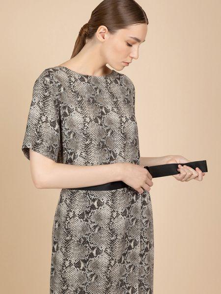 Платье из вискозы с рукавами Vassa&co