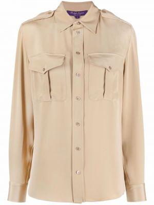 Beżowa koszula z długimi rękawami Ralph Lauren Collection