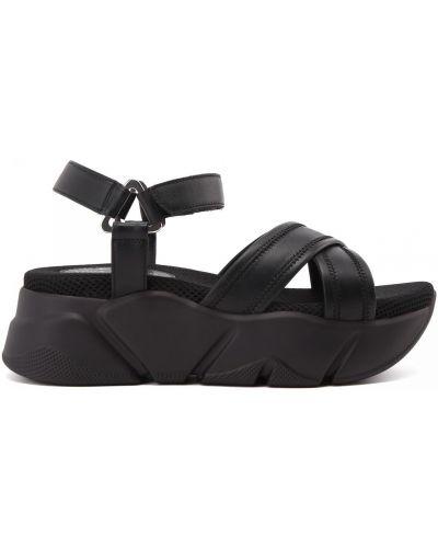 Открытые кожаные сандалии Voile Blanche