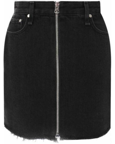 Джинсовая юбка - серая Rag&bone