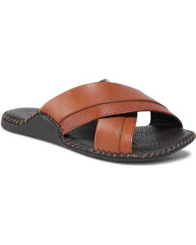 Brązowe sandały na lato Lasocki For Men