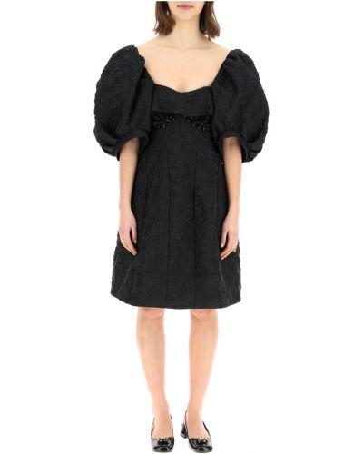 Czarna sukienka mini Simone Rocha