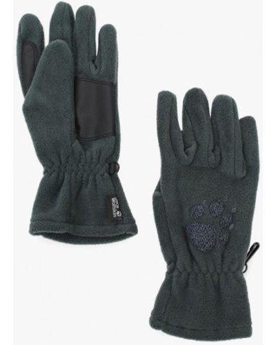 Зеленые перчатки текстильные Jack Wolfskin