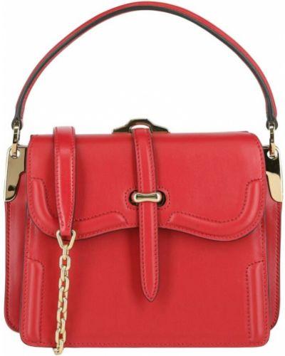 Czerwona torba na ramię skórzana Prada