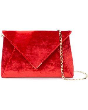 Золотистая красная шелковая сумка на плечо с подкладкой Tyler Ellis