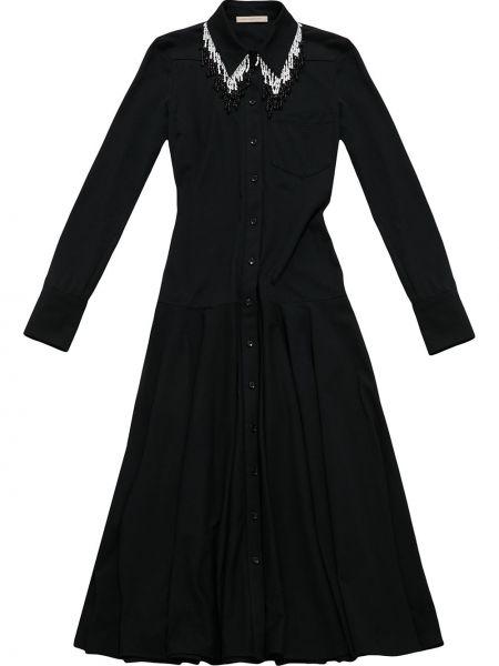 Sukienka bawełniana - czarna Christopher Kane