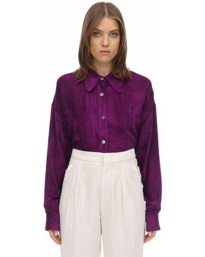 Фиолетовая классическая рубашка с воротником с манжетами Isabel Marant