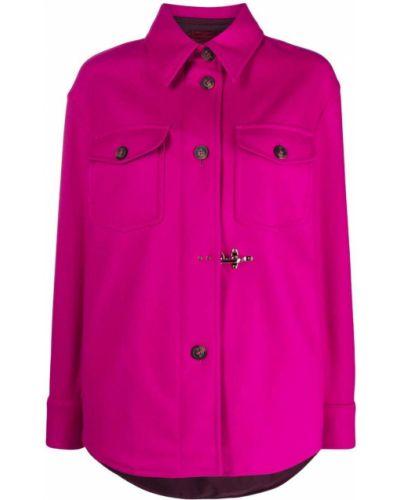 Рубашка с длинным рукавом - розовая Fay
