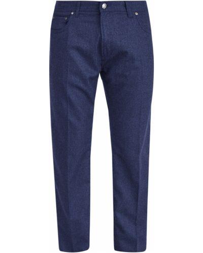 Прямые брюки с карманами фланелевые Enrico Mandelli