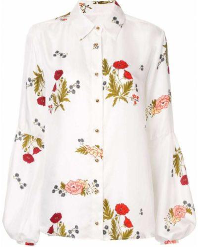 Блузка с цветочным принтом белая Macgraw