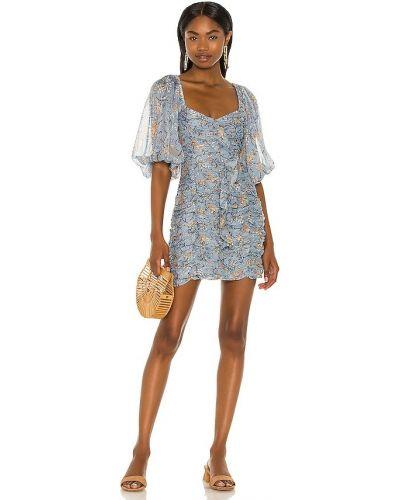 Платье мини в полоску - синее Minkpink