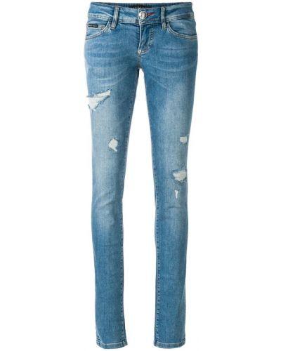 Рваные джинсы классические слим фит Philipp Plein