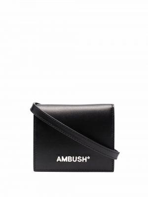 Czarny portfel skórzany Ambush