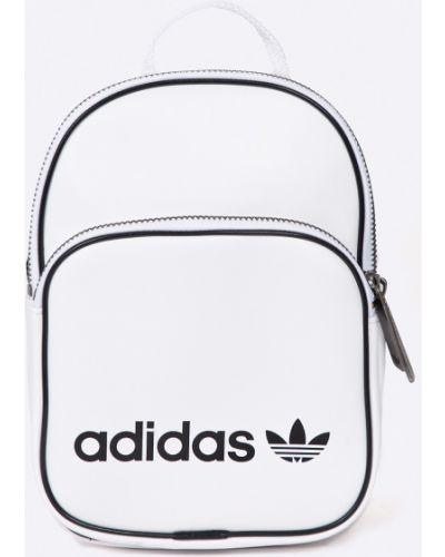 Кожаный рюкзак с подкладкой белый Adidas Originals