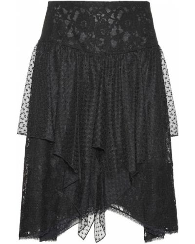 Черная ажурная классическая юбка See By Chloé