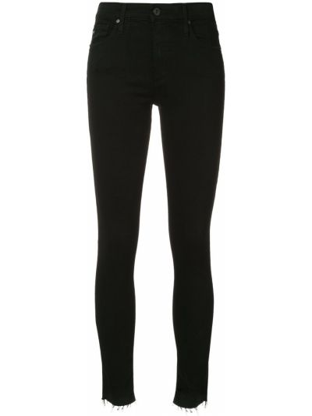 Джинсовые зауженные джинсы - черные Ag Jeans