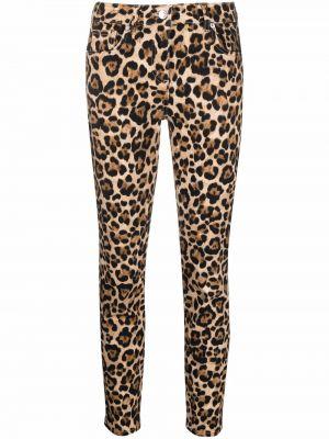 Облегающие зауженные джинсы - коричневые Blumarine