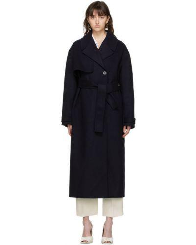 Długi płaszcz wełniany z paskiem z długimi rękawami Jacquemus