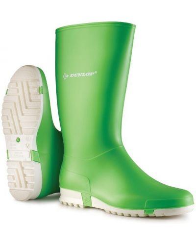 Резиновые сапоги сетчатые - зеленые Dunlop