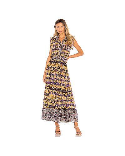 Платье макси на пуговицах с поясом Misa Los Angeles