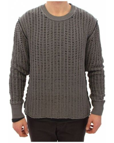 Czarny długi sweter materiałowy Dolce And Gabbana