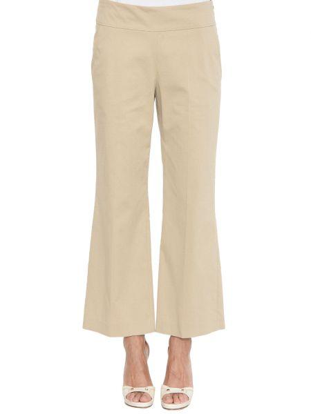Хлопковые брюки - бежевые Rene Lezard
