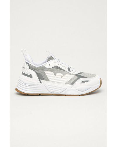 Białe sneakersy sznurowane Emporio Armani
