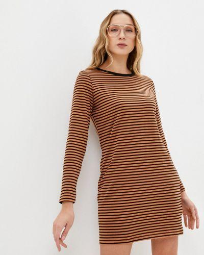Коричневое прямое платье Brave Soul