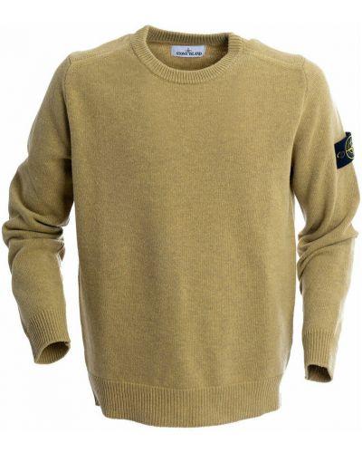 Sweter wełniany - beżowy Stone Island