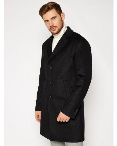 Czarny płaszcz wełniany Joop!