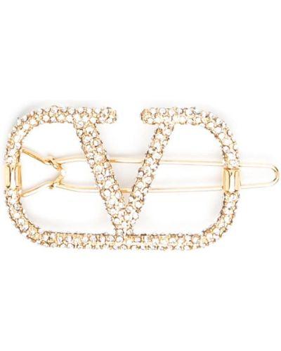 Złote klipsy Valentino Garavani