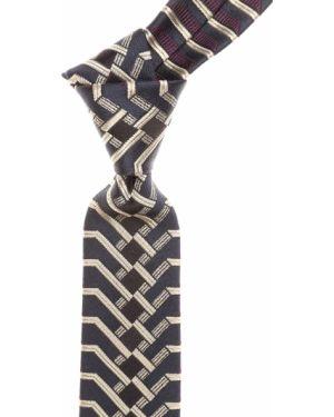 Czarny krawat z jedwabiu Christian Lacroix