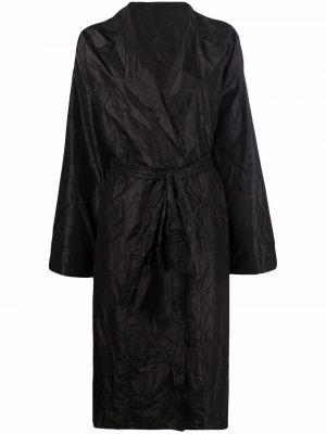 Черное пальто классическое Daniela Gregis