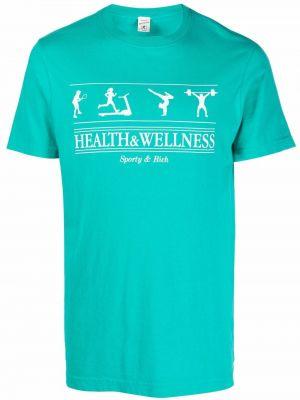 Niebieska t-shirt krótki rękaw Sporty And Rich
