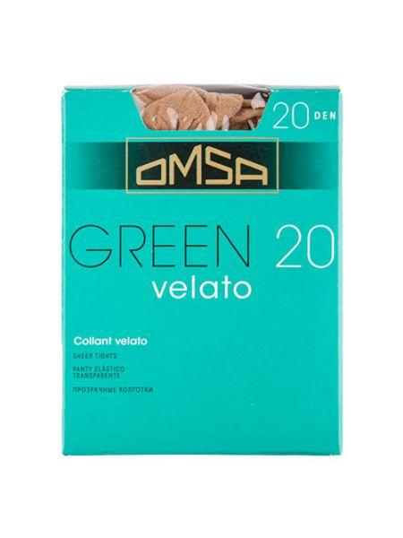 Тонкие зеленые колготки Omsa