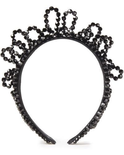 Ободок атласный - черный Simone Rocha
