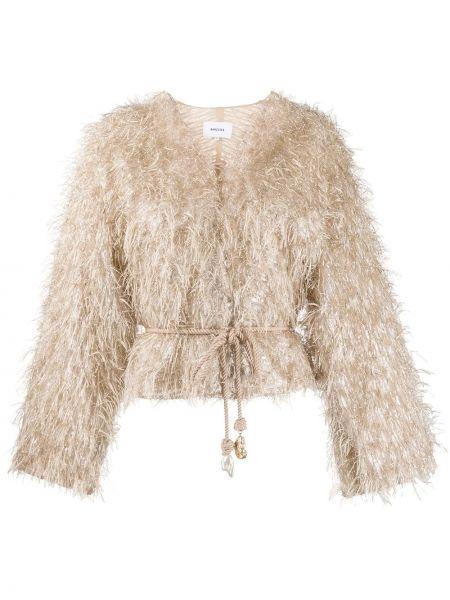 Пиджак с поясом круглый с вышивкой Nanushka