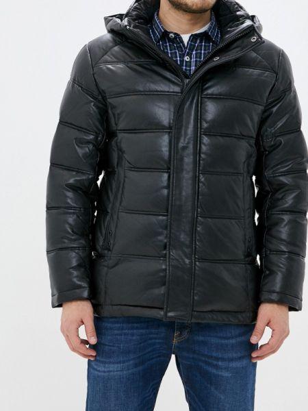 Зимняя куртка кожаная черная Winterra
