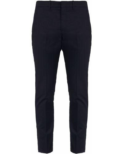 Укороченные брюки черные с поясом Prada