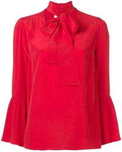 Блузка с воротником-стойкой свободного кроя Michael Michael Kors